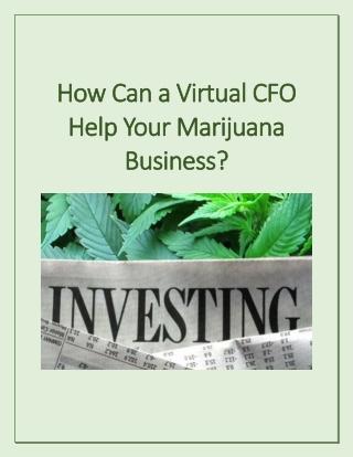 How Can a Virtual CFO Help Your Marijuana Business?