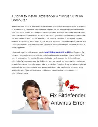 Bitdefender is not responding