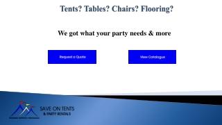 Party Rentals in Surrey