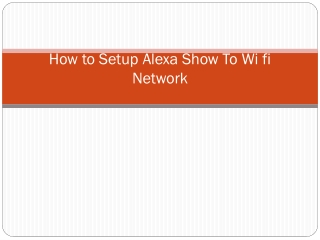 How to Connect Echo Show to WiFi?