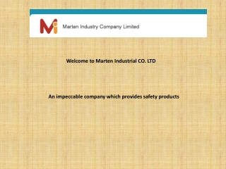 An impeccable company which provides safety products
