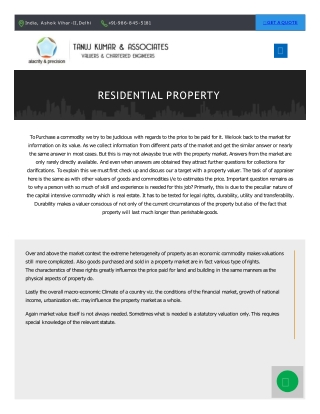 Trusted property valuer