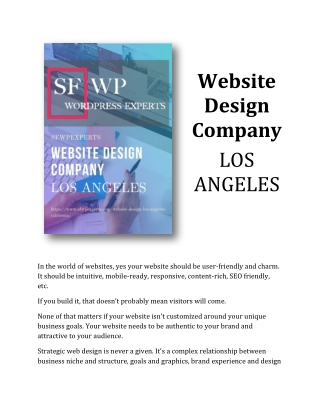 Looking For Website Design Company In Los Angeles