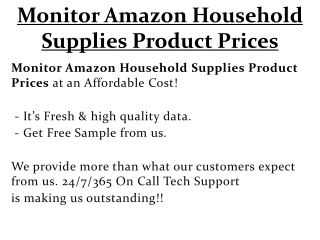 Monitor Amazon Household Supplies Product Prices