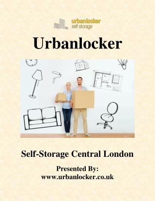 Self storage central London | Urbanlocker