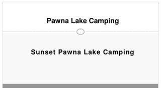 Services – Sunset Pawna   Pawana Camping   Lakeside Camping