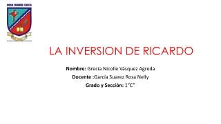 La inversión de Ricardo