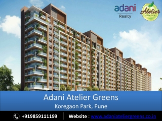 Adani Atelier Greens - Upcoming Projects in Pune