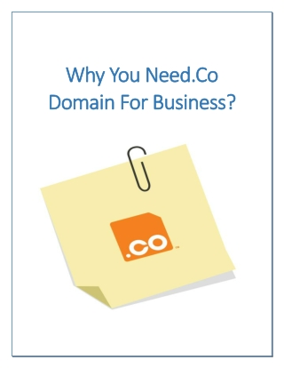 Why You Need.Co Domain For Business?