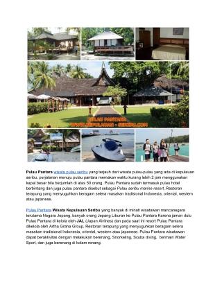 Pulau Pantara Resort Wisata Kepulauan Seribu Jakarta