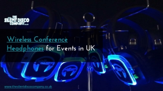 Wireless Conference Headphones in UK
