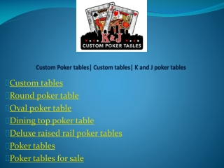 Oval poker table