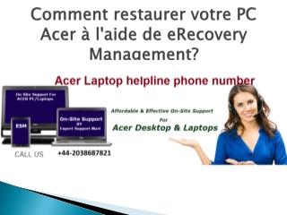 Numero service client Acer