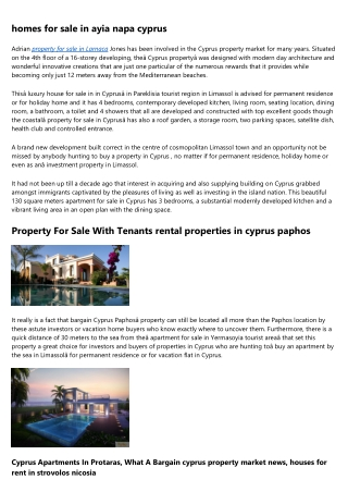 Homes and property for sale cyprus paphos