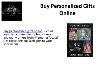 Buy Personalized Gifts Online