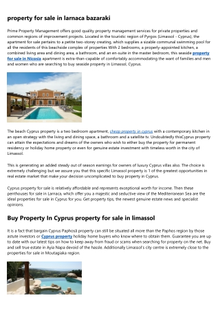 Why property for sale in cyprus with title deeds Are Getting Well-Known Nowadays