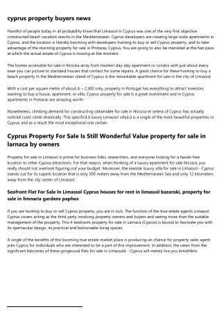 property for sale in cyprus paphos area - Cyprus Property Services