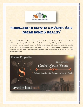 Godrej South Estate: Converts Your Dream Home in Reality