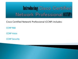 Introducing CCNP