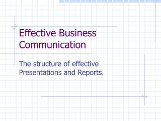 Effective Business Communication
