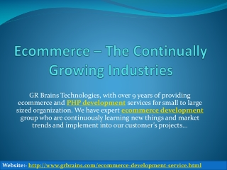 Ecommerce – The Continually Growing Industries