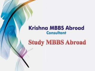 Pursue MBBS in Kyrgyzstan at Low Fees- Krishna Mbbs Abroad Consultancy