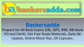 Bankersadda for Government exams 2019-20