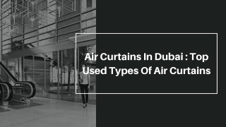 Air curtains in dubai