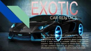 Exotic Car Rental Miami Fl
