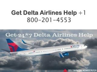 Get Delta Airlines Help 1 800-201-4553