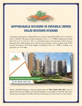 Affordable Housing in Dwarka Under Delhi Housing Scheme