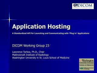 Application Hosting  A Standardized API for Launching and Communicating with Plug-in Applications