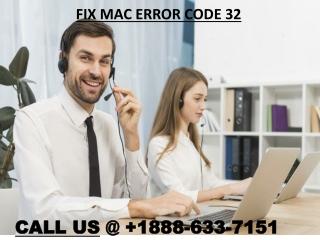 How to Fix Mac Error Code 32? Call 1-844-266-0040 Toll-Free