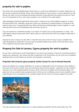 Beach Homes property to buy in cyprus paphos