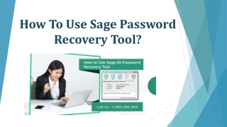 How To Use Sage Password Recovery Tool?