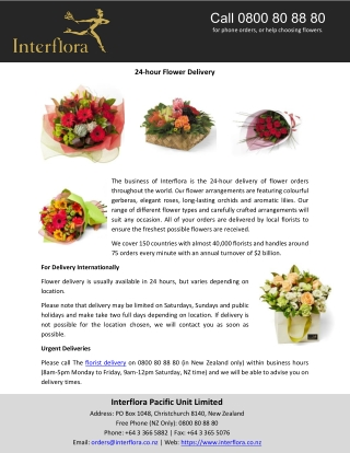 24-hour Flower Delivery