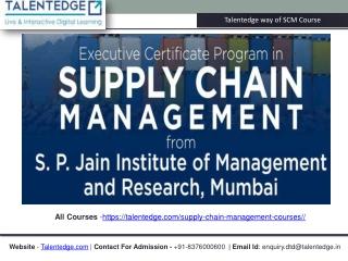 Supply Chain Management Program