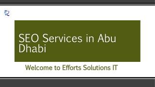 SEO Services in Abu Dhabi | Effortz