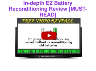In-depth EZ Battery Reconditioning Review [MUST-READ]