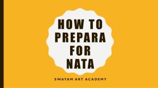 NATA Preparation – How To Prepare For NATA 2019