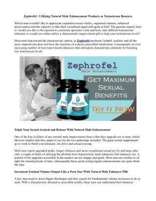Last Prognosis On Zephrofel :