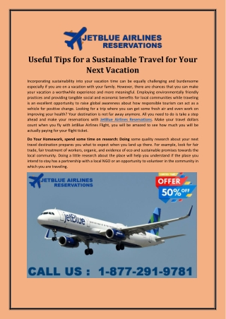Useful Tips for a Sustainable Travel for Your Next Vacation