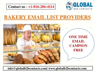 BAKERY EMAIL LIST PROVIDERS