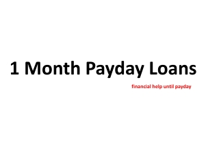 1 Month Payday Loans – Get Loan Direct Lender In UK