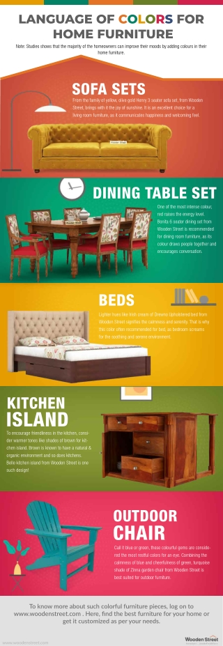 LANGUAGE OF COLORS FOR HOME FURNITURE
