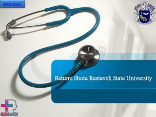 Batumishota Rustaveli State University | Study MBBS in Georgia