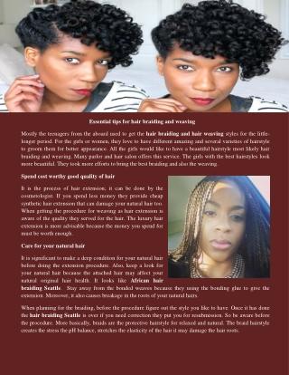 African hair braiding Seattle
