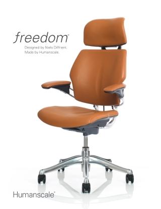 Ergonomic Executive Chair with Headrest   Humanscale