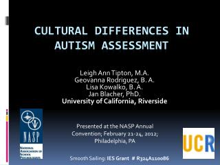 Cultural Differences in Autism Assessment