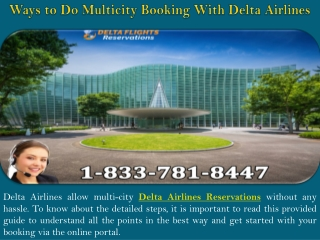 Ways to Do Multicity Booking With Delta Airlines